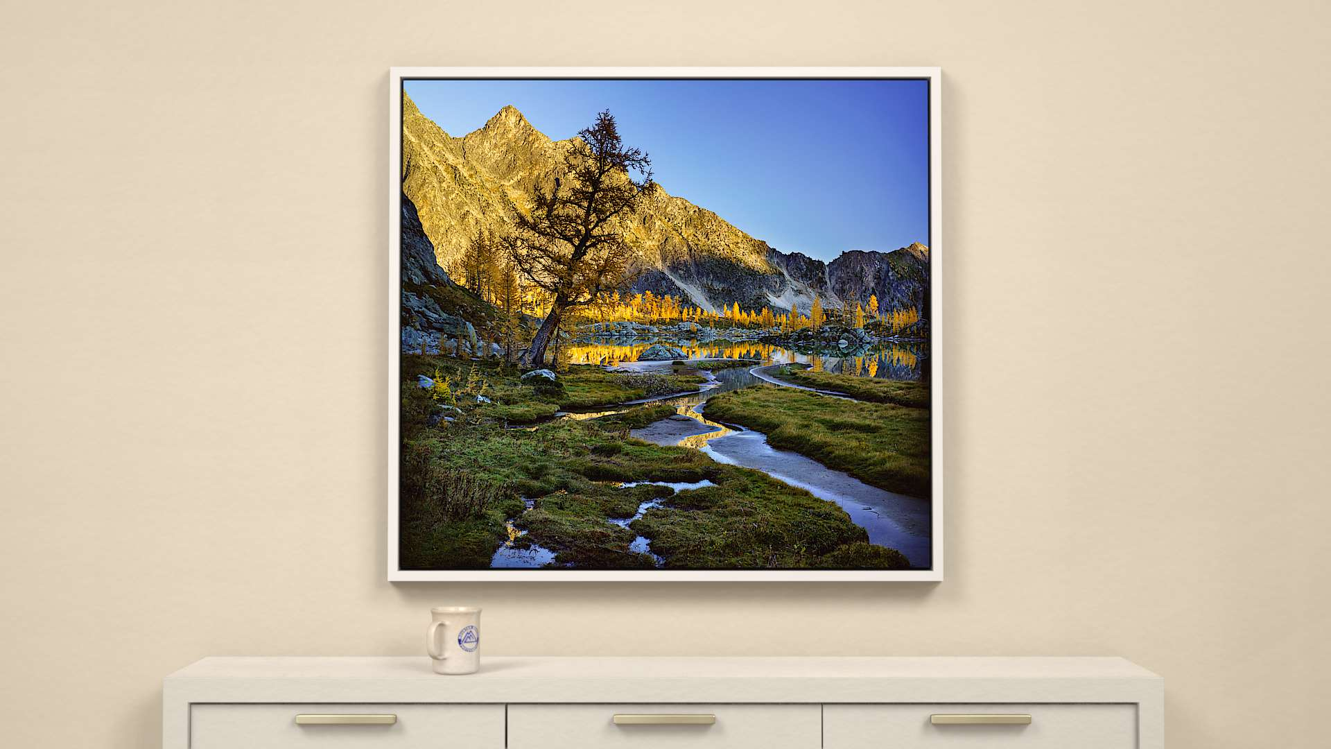 Alpine Autumn Canvas Wall Art