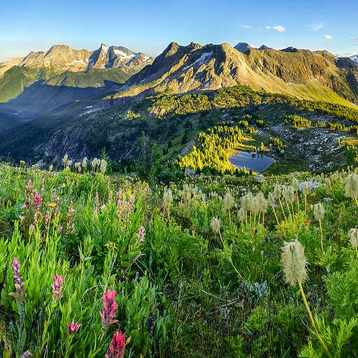 Alpine Summer Sunset Panorama