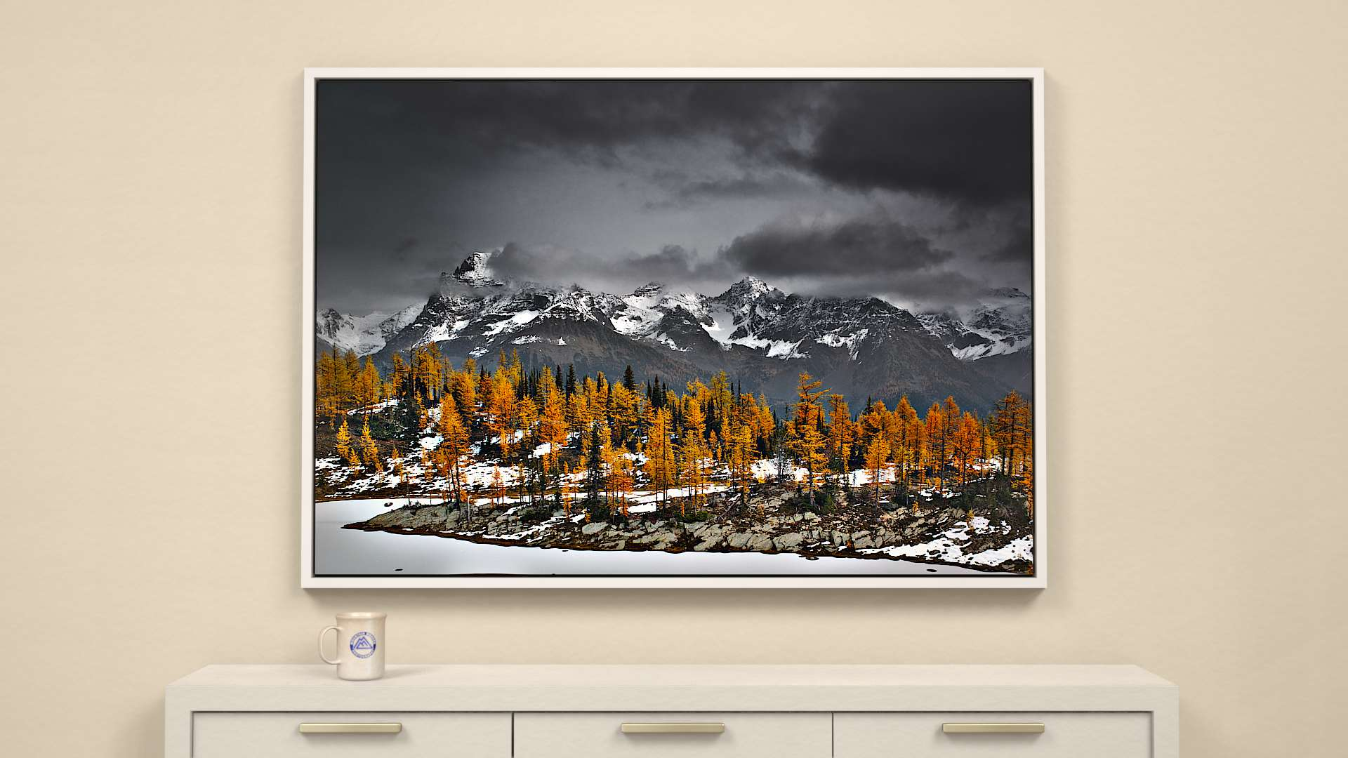 Smokey Mountain Gold Canvas Wall Art