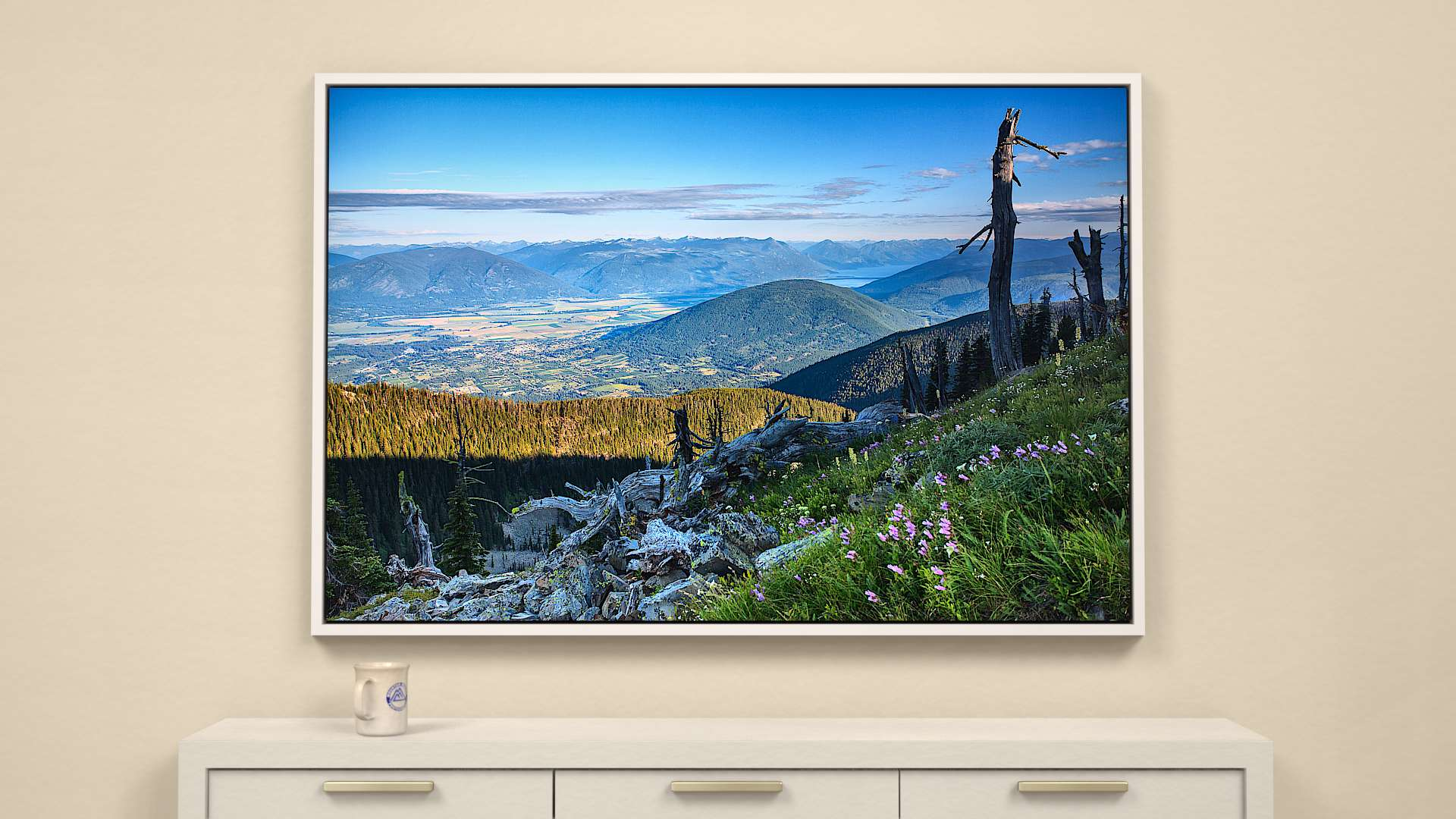Creston Valley morning Canvas Wall Art