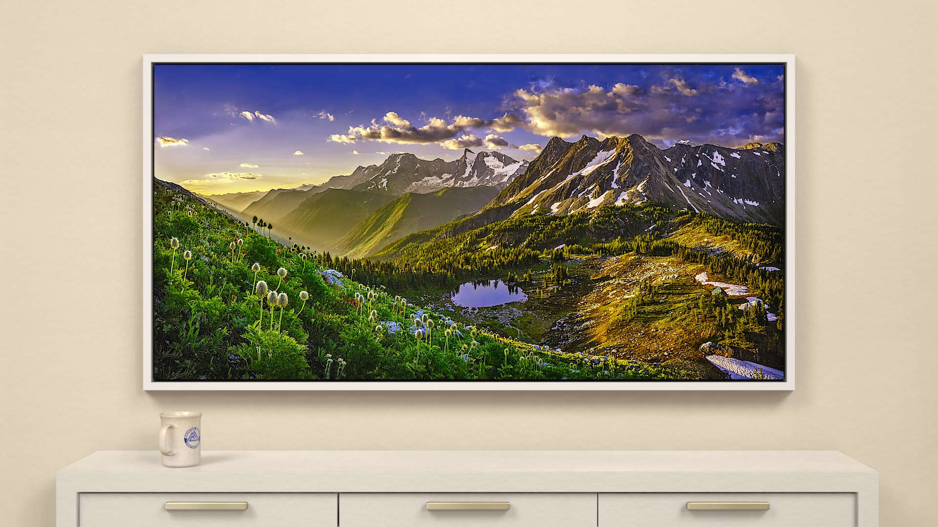 Daybreak on Jumbo - Tall Canvas Wall Art