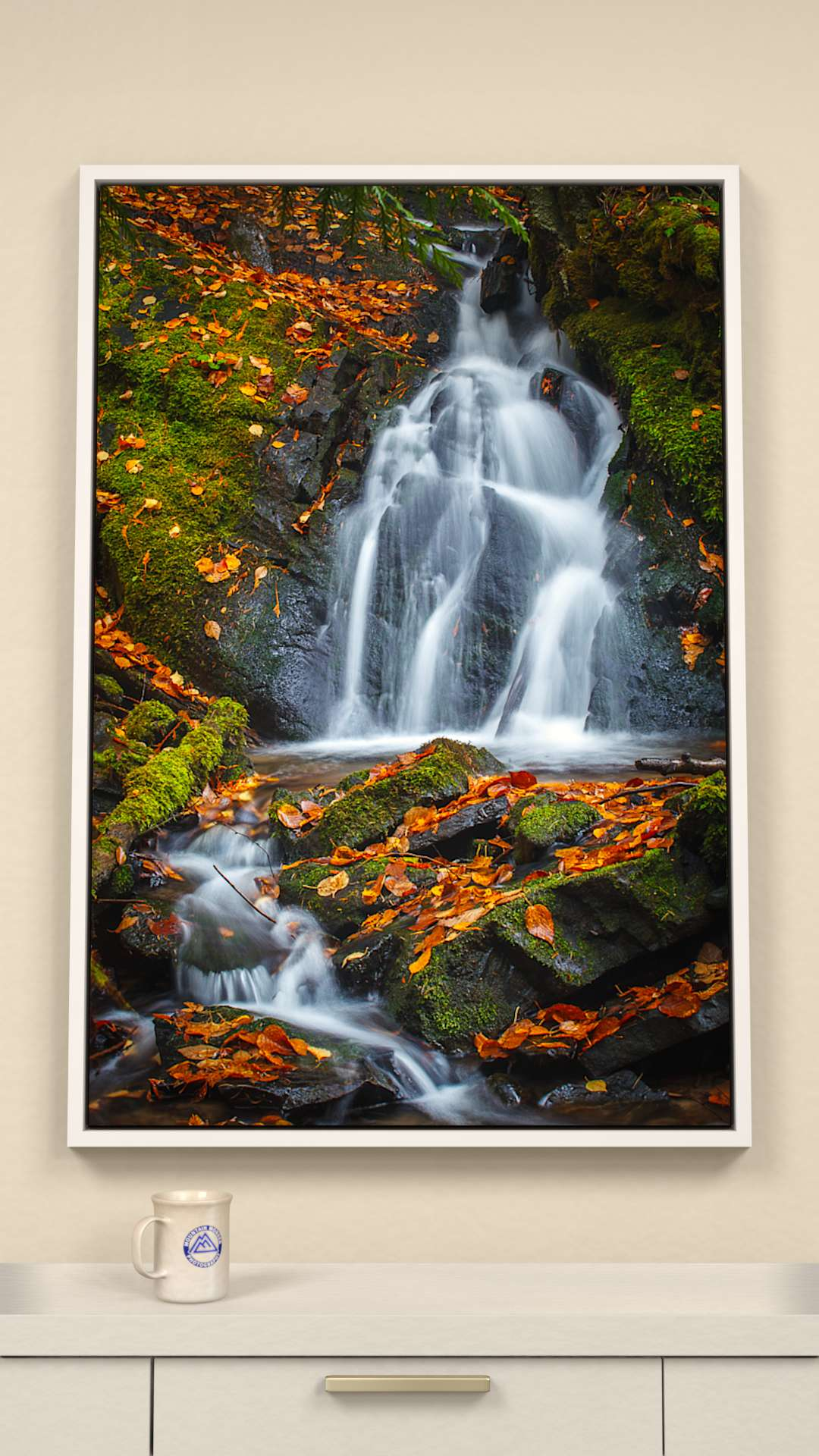 Autumn Cascade Canvas Wall Art