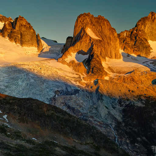 First Light on the Bugaboo Spires