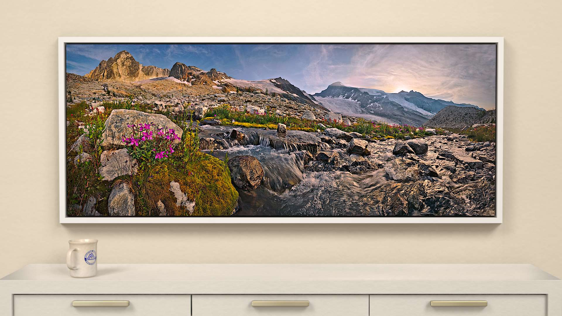 Glacier's Garden Canvas Wall Art