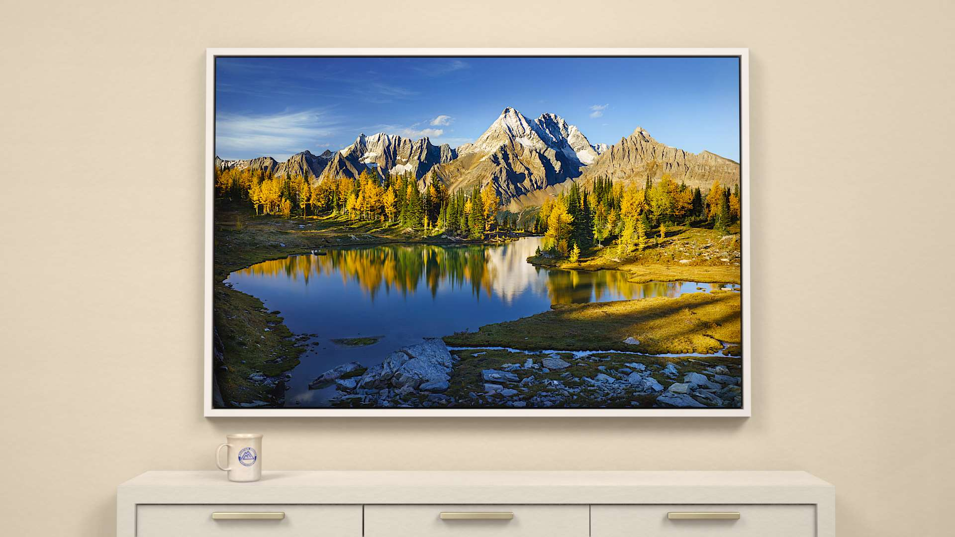 Hidden Tarn  Canvas Wall Art