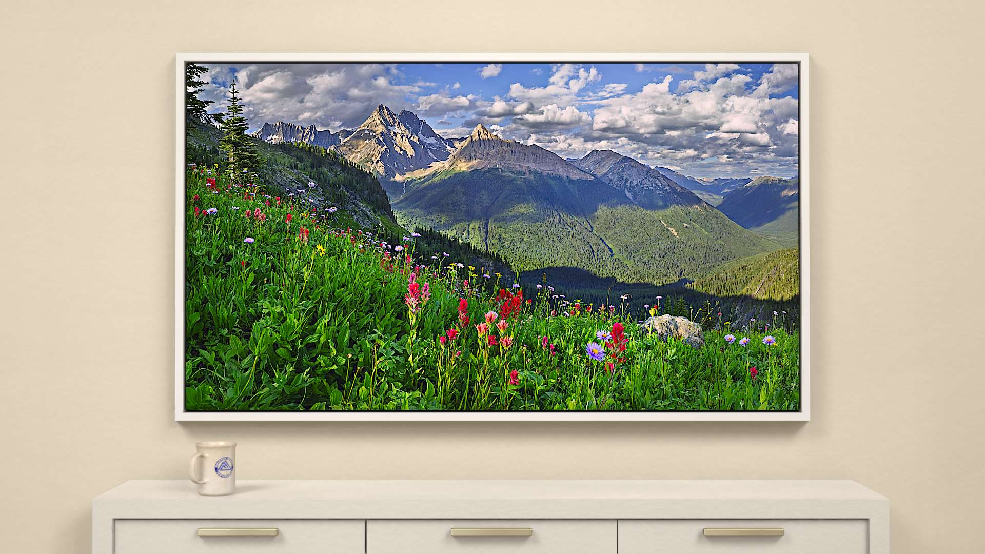 Jumbo Valley Canvas Wall Art