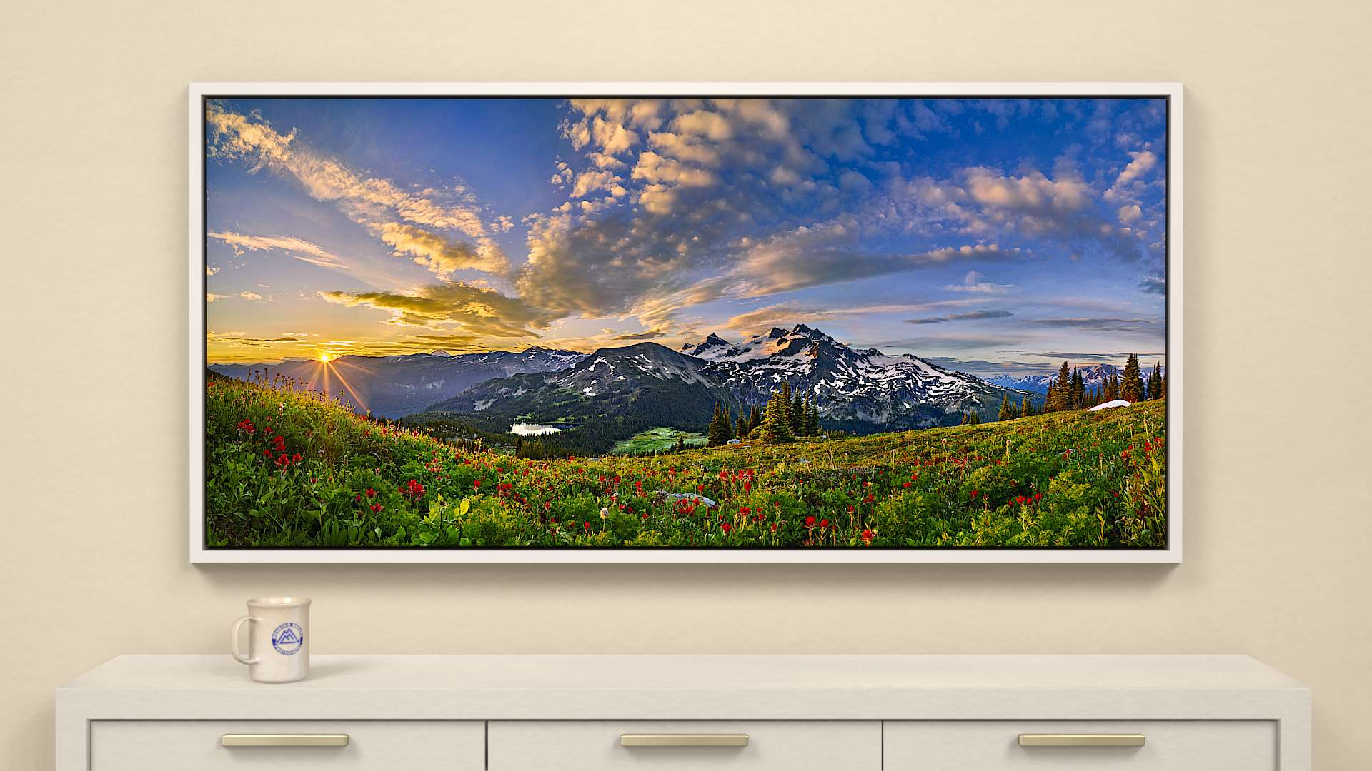 Morning Fills the Sky Canvas Wall Art