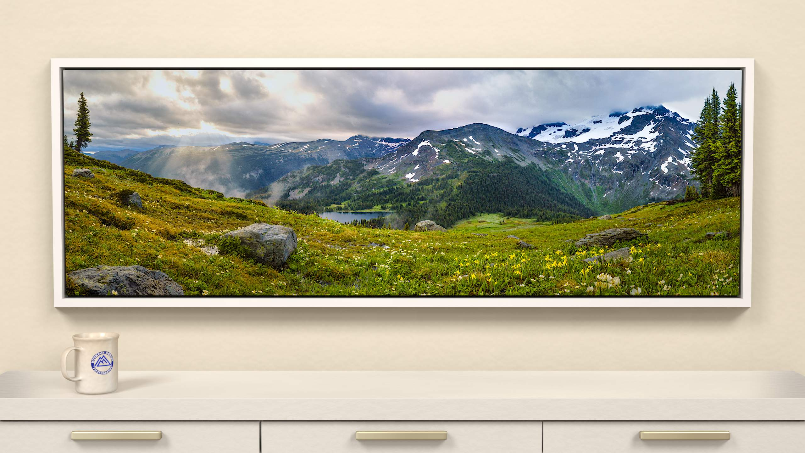 Morning Greeting on Silent Pass Canvas Wall Art