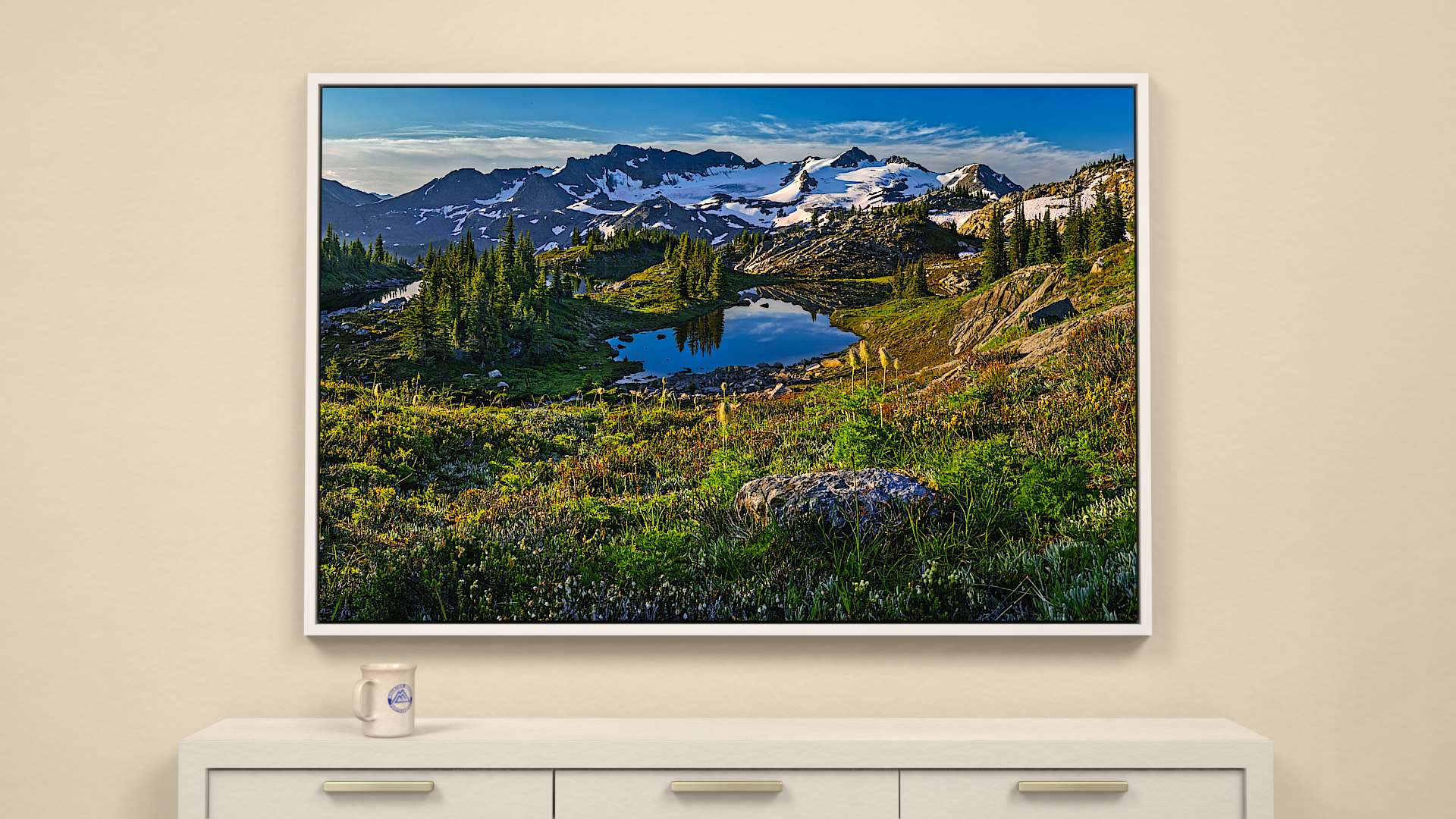 Morning light on Caribou Lakes  Canvas Wall Art