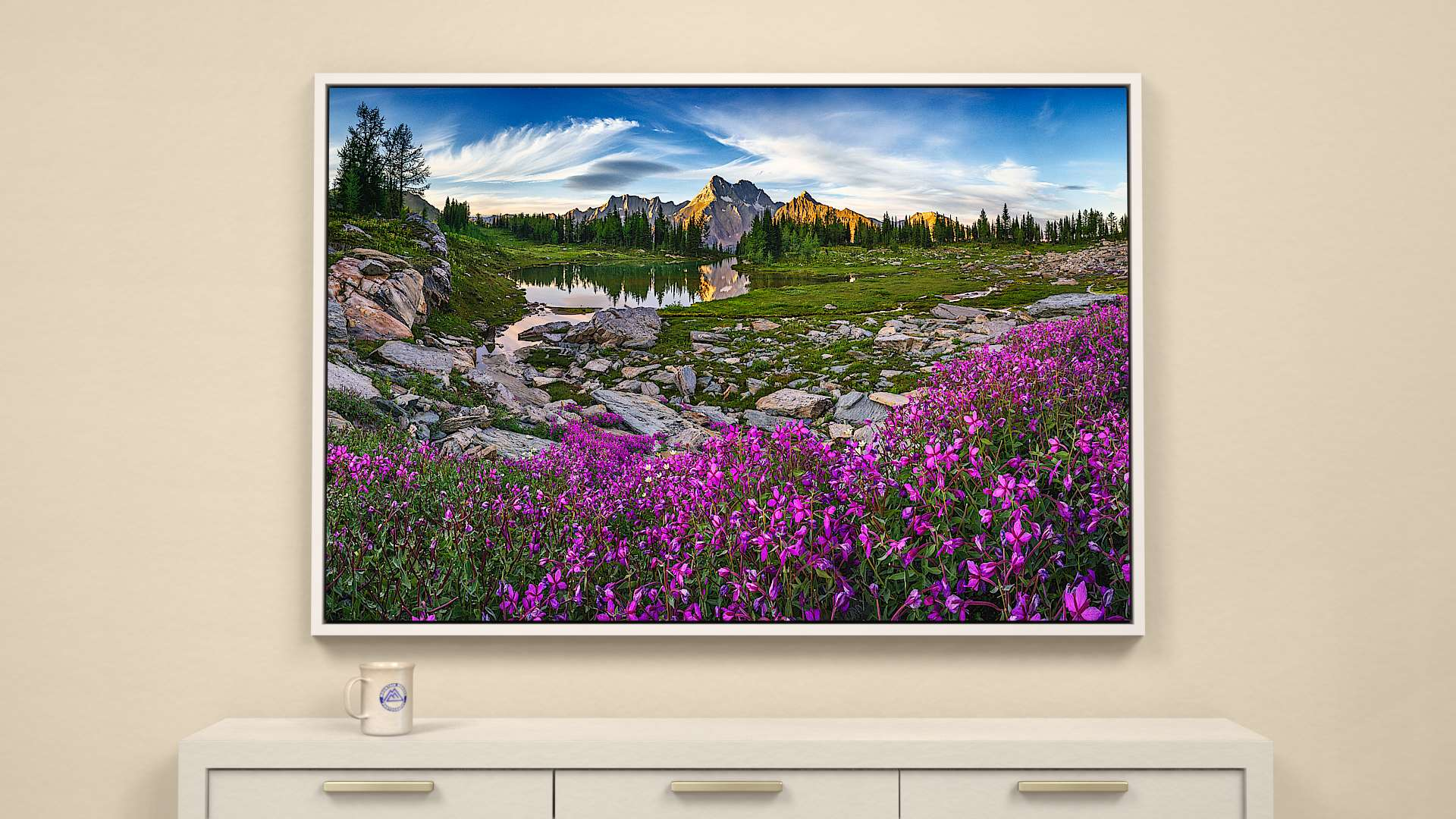 Mountain Garden Canvas Wall Art