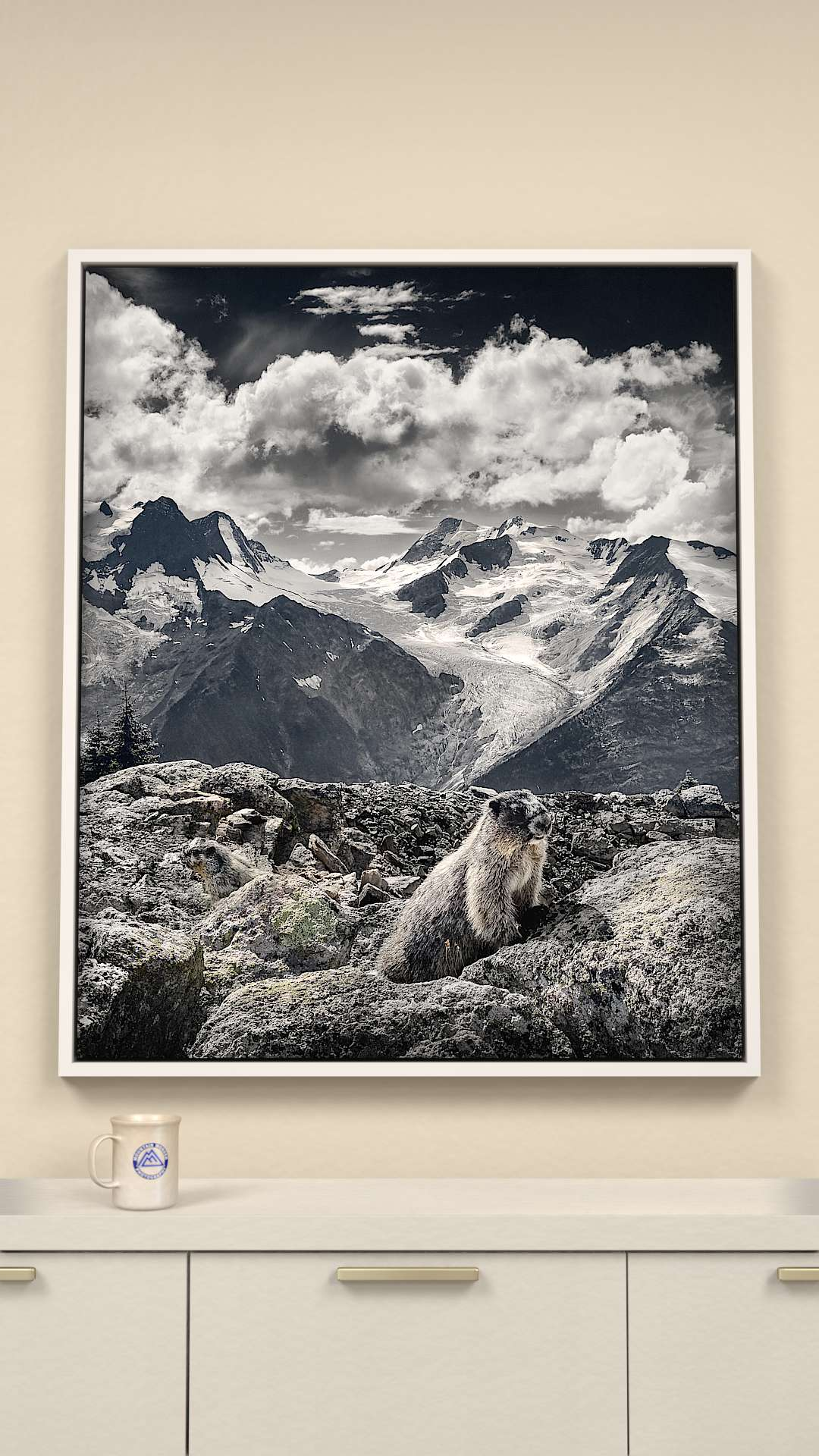 Mountain Marmots Canvas Wall Art