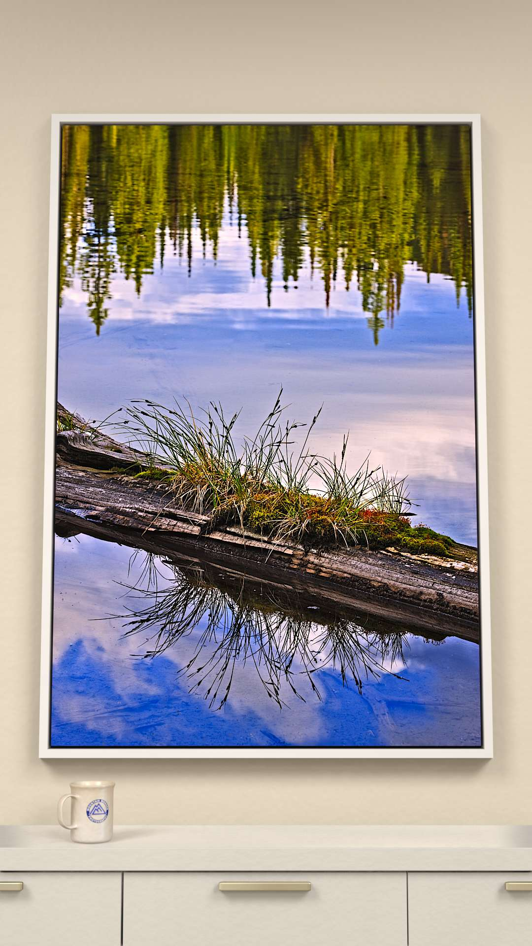 Pool of reflections Canvas Wall Art