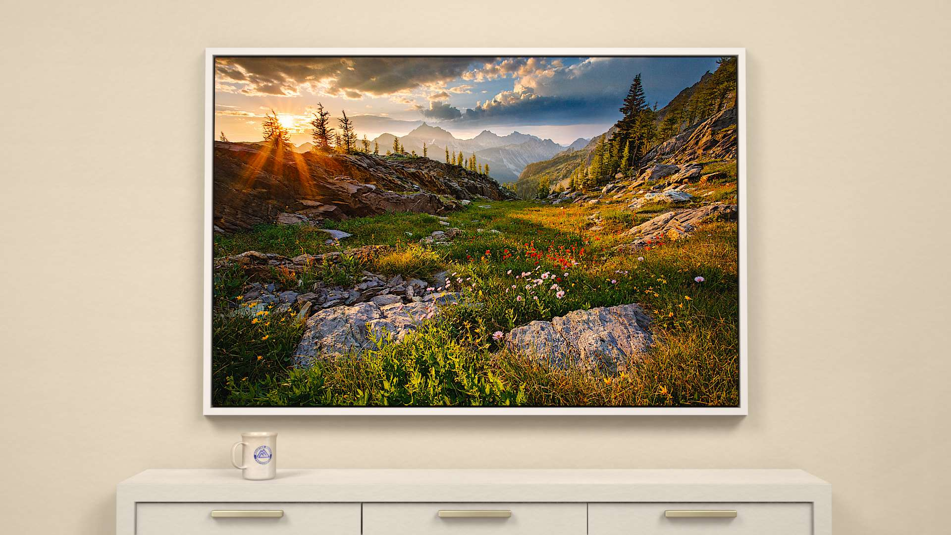 Rocky Mountain Sunset Canvas Wall Art
