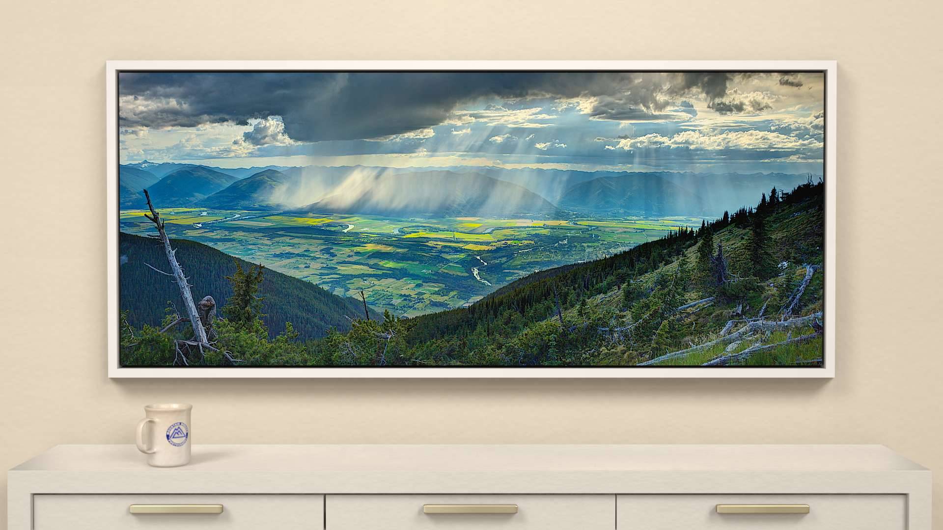 Valley Storm Canvas Wall Art