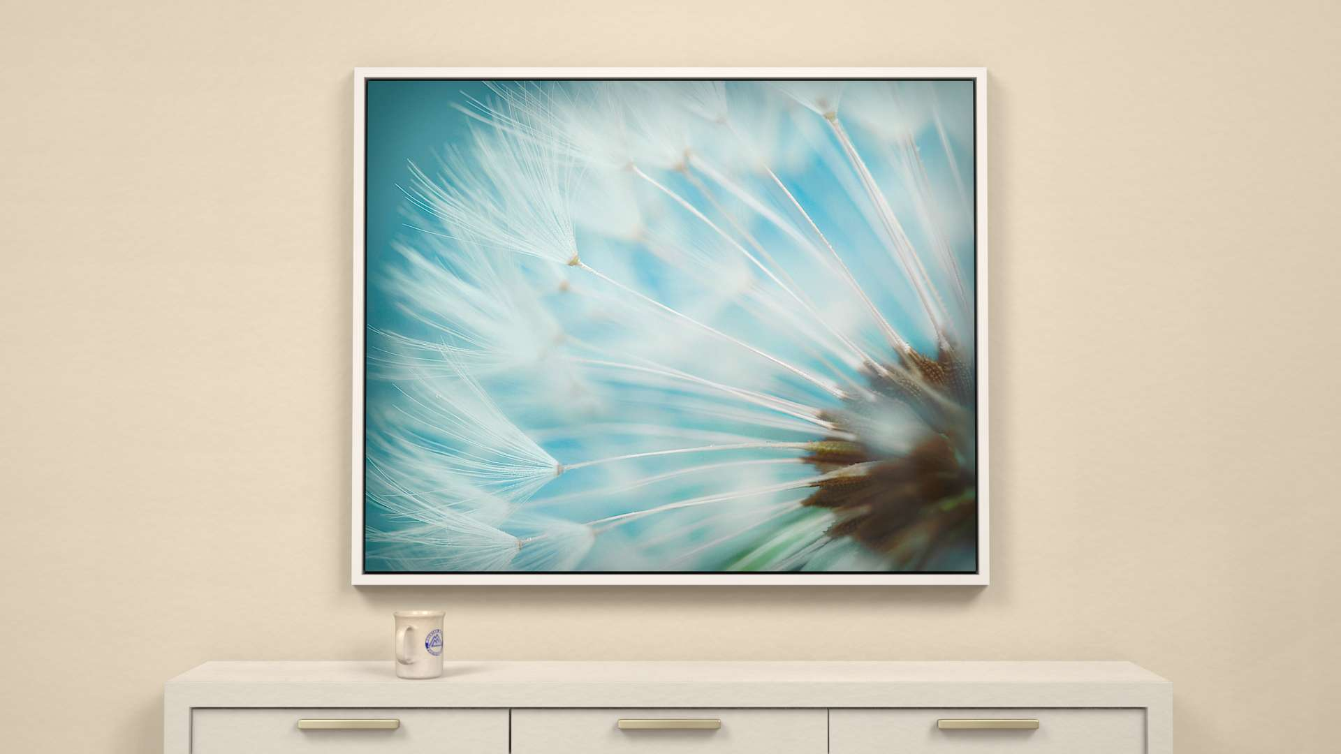 Waiting on the Wind - wildflower Canvas Wall Art